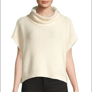 Free People Sleeveless Textured Cowlneck Sweater